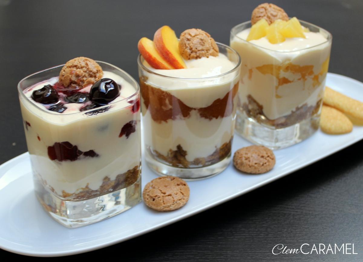 Tiramisù al bicchiere con frutta
